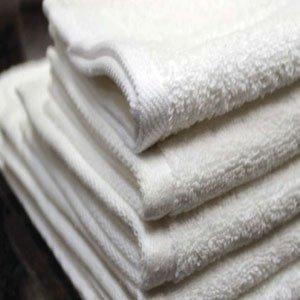 Hotel Oxford Platinum Bath Towels 35x68 100% Ringspun Cotton Dobby Border & Twill Edge Hemmed White 19 Lb/dz
