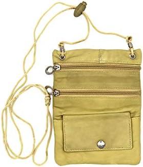 210907f67245 Goson Leather Purse Organizer Shoulder Bag 4 Pocket Micro Handbag ...