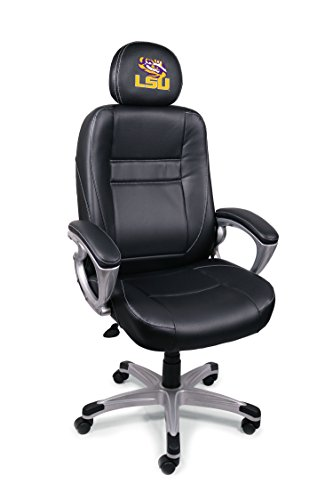 NCAA College LSU Tigers Leather Office Chair