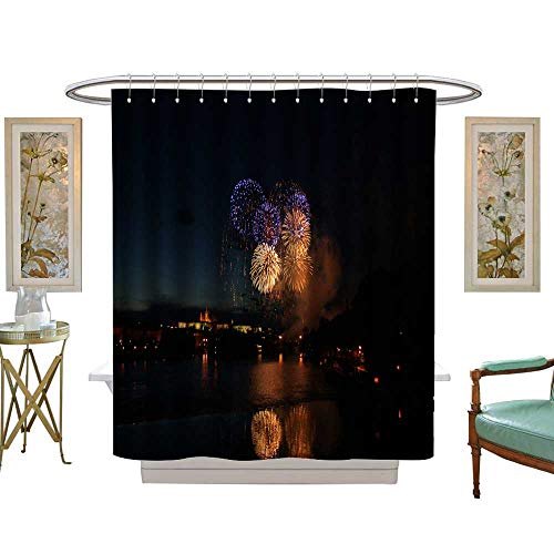 luvoluxhome Shower Curtains Mildew Resistant The Flowery Fireworks