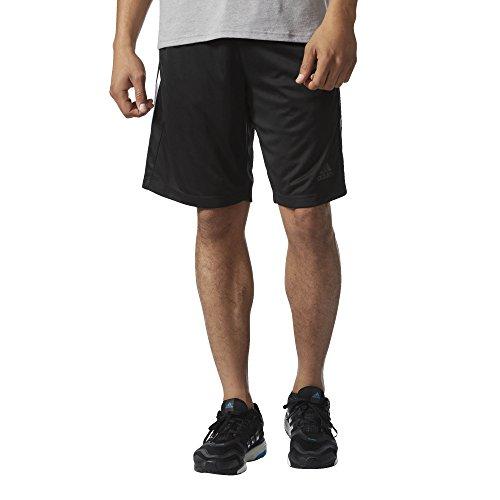 adidas Men's Designed-2-Move 3-Stripe Shorts, Black/White, X-Large