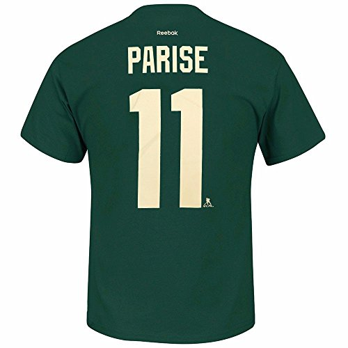 Zach Parise Minnesota Wild NHL Reebok Men Green Player Name & Number Jersey T-Shirt (XL)