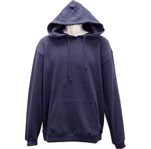 (SPECIEN Adult Hooded Pullover Fleece Sweatshirts Hoodie - Middle Weight (Navy, Medium))