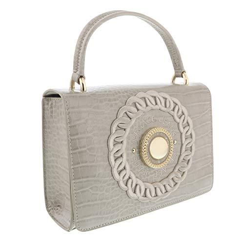 Versace Linen Beige Small Top Handle/Shoulder Bag-EE1VTBBR5 E723 for Womens (Billig Versace Brille)