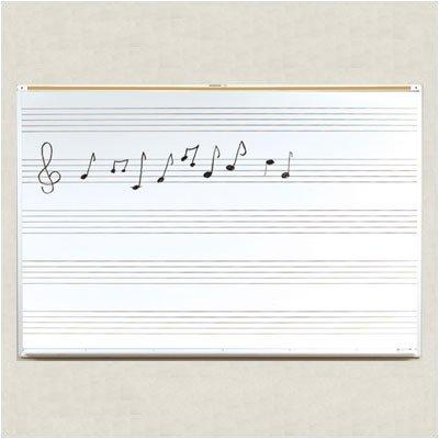 - Porcelain Steel Music Line Board (6 ft. W)