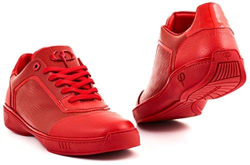 Phinomen Luksus Sneaker - Ægte Læder - Håndlavet Lavet I Italien Rød Lav W83MtZ6WQ