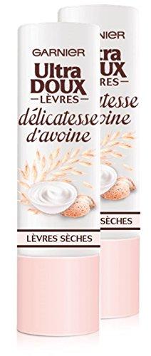 Garnier Ultra Doux Bálsamo Labial Calmante (seca Délicatesse de avena – juego de 2