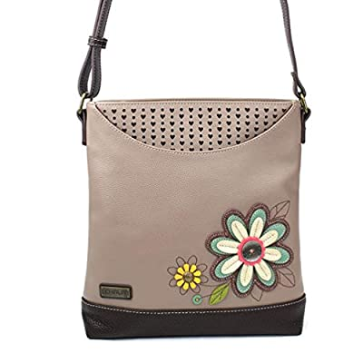 Chala Handbags Daisy Sweet Messenger Bag Purse, Flower Lover