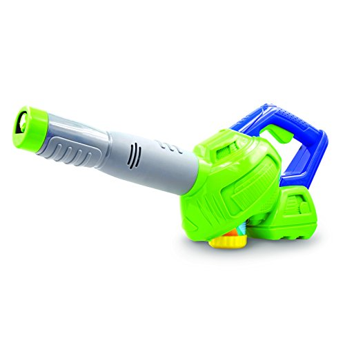 Maxx Bubbles Bubble-N-Go Toy Leaf Bubble Blower with Refill Solution Simulates Real Power Leaf Blower (No Spill Bubble Machine)