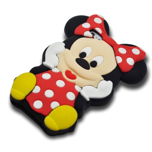 VOCOX 3d Cartoon Minnie Mouse Soft Silicon Case Cover Compatible for Apple iphone 5/5G/5S - Red