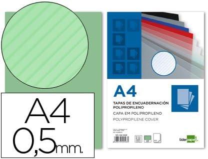 Liderpapel - Te21 Pack De 100 Tapas De Encuadernación, A4, 0.5 Mm: Amazon.es: Oficina y papelería