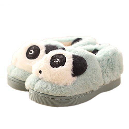 Panda Bleu Bas Femme Chaussons Hiver fSpWP6qcY