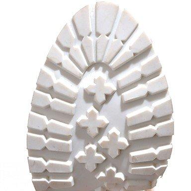 LvYuan Mujer Sandalias Confort Innovador Semicuero PU Verano Otoño Vestido Fiesta y Noche Paseo Confort Innovador Hebilla Tacón RobustoBlanco White