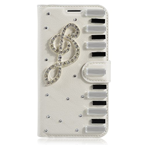 Alcatel Idol 4 Funda, Alcatel Idol 4 billetera Funda, Lifeturt [ Moon Love ] Cubierta de la caja de cuero superior de la carpeta del libro para Alcatel Idol 4 E02-11-nota de la música