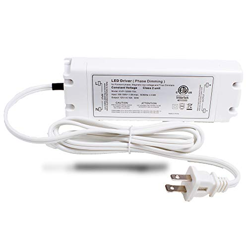 LEDUPDATES 12v 50w LED Light Power Supply 4.16A Triac Dimmable driver for Standard Wall AC Dimmers ETL LISTED