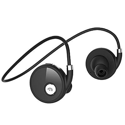 "Senboweâ""¢ [Upgrade Headset with Super High-Capacity 140mAh Battery] Bluetooth 4.0 Sport Sweatproof Wireless Stereo Bluetooth Headset /Headphone/Headphones /Earphone /Earpiece/Earbuds with AptX,Microphone ,Super Capacity 140mAh Battery,Hands-free Calling,"