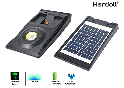 Hardoll Solar Light For Home Garden 10W COB Motion Sensor Street Lamp (Black) product image