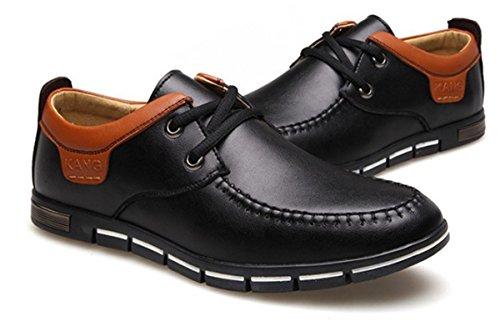 Bininbox Mens Moderno Oxford Ala Punta Moda Sneaker Scarpe Casual Nero Semplice