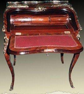 Barock Sekretär Antik Stil Bureau Plat LouisXV MoSc0137
