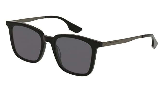 37f7f458fc4 McQ MQ0070S 001 Black Ruthenium MQ0070S Square Sunglasses Lens Category 3  Siz