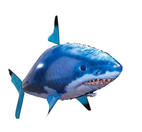 1PCS Air Swimmers Remote Control Flying Air Shark Toy Fish Balloons Inflatable With Helium Fish plane RC Helicopter Robot Gift For Kids with Helium Plane Toy Party-s