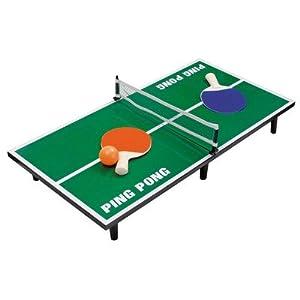 Mini Tischtennis Tischtennisset Tischtennisplatte mit Netz Ball und Schläger
