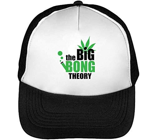 The Bong Theory Gorras Hombre Snapback Beisbol Negro Blanco