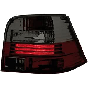 Dectane RV02DRS - Faros traseros para VW Golf IV (modelos de 1997 a 2004), color rojo y gris oscuro