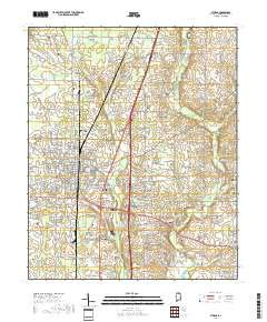 """Athens, Alabama topo map by East View Geospatial, 1:24:000, 7.5 x 7.5 Minutes, US Topo, 22.8"""" x 29"""""""