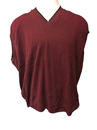 Megalos Usa Made Dark Red Big And Tall Sweater Vest 5x Pure Men Store