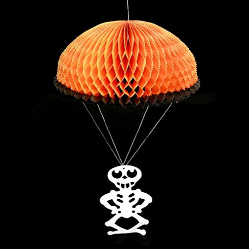 Elevin(TM)2017 Halloween Decoration Bats Witch Skull Paper Parachute Decorative Pendant -