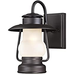 Westinghouse 6204200 Santa Fe 1 Light Outdoor Wall Lantern, Weathered Bronze