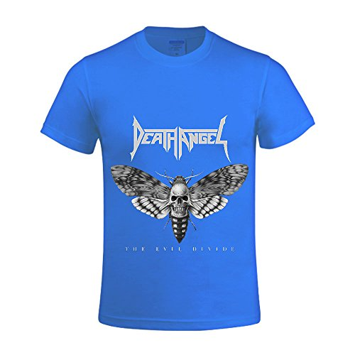 The Evil Divide Death Angel Men Crew Neck Graphic T Shirts For Men Blue