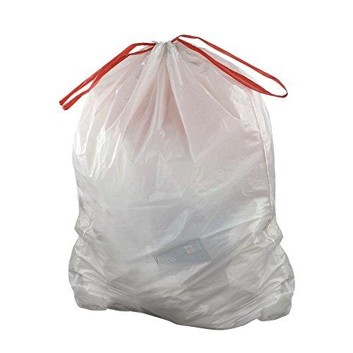 Doryh 10 Gallon White Drawstring Trash bags, 2 Rolls/120 Counts