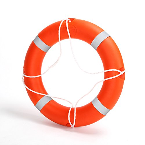 BeautySu. 28'' Diameter Professional Adult Foam Swim Ring Buoy Orange Lifering with White Bands by BeautySu. (Image #9)