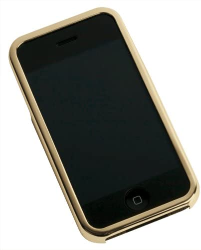 B000NIF3CY Gilty Couture 14k Gold-Plated Smooth Faceplate for iPhone 1G 41vbryI8GVL.