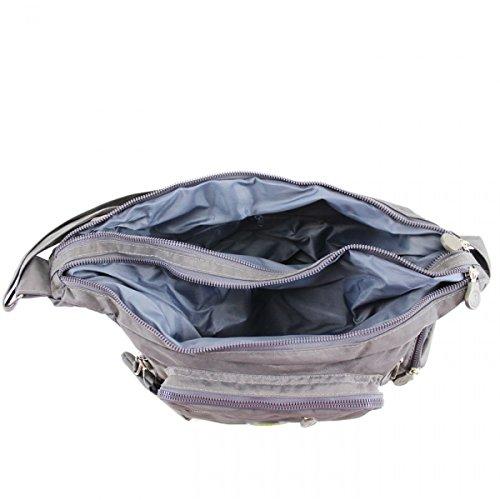 Nylon Holiday Grey Handbags Cross Body Handbags Girls Shoulder 507 For Bags Great Bag Women's LeahWard Brand 5Tfqw5a