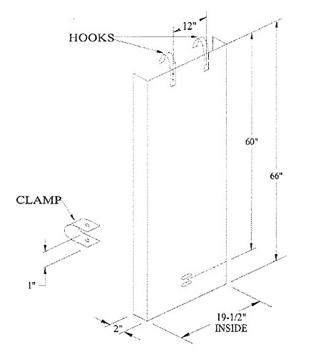 Demuth D527 Security Door for Fixed Steel Ladders - Security Lockout System