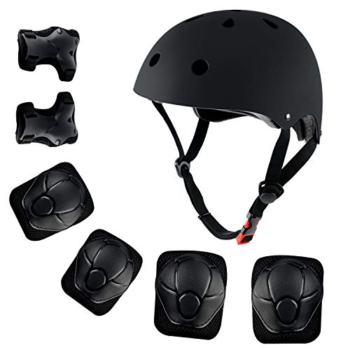 shuangjishan Kids Sport Protective Gear, Helmet and Pads of Wrist, Elbow, Knee, for Bike Skateboard Skate Scooter