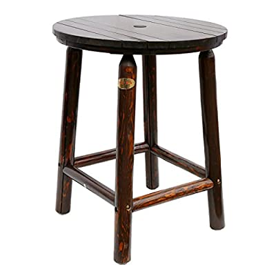 Songsen Log Wood Bar Table & Chair Set Outdoor Barstool Retro Style Bar Furniture (Single Table) - SPRAY-PAINTING - The table was spray-painted on Coffee polyester coating. The special process makes the table looks vintage with its own grain. SEMI-KD PACKAGE - special packing method and makes it easy assembling and much more firm than other ways. CAPACITY - For 1-4 people using - patio-tables, patio-furniture, patio - 41vbu1jAnnL. SS400  -