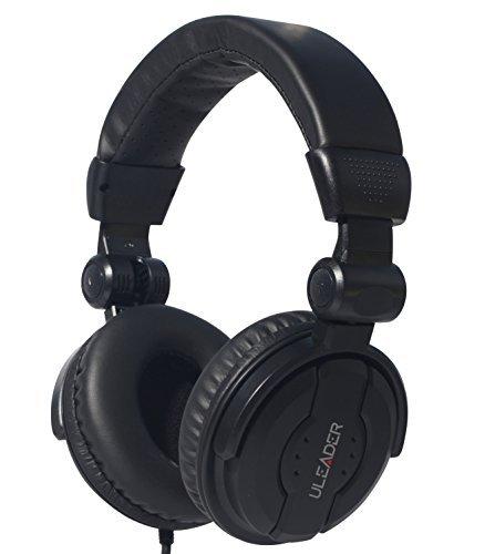 Uleader DJ9400 High-Definition DJ Headphones (DJ9400 Black)