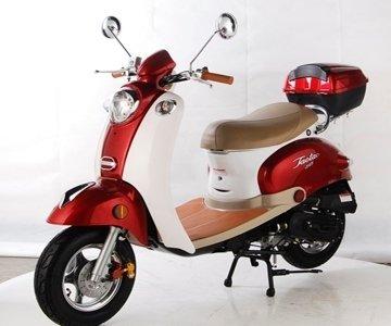 TaoTao CY50-B BLUE 49cc Gas Automatic Scooter Moped w/...