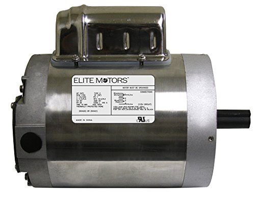 Elite 1 HP Stainless Steel C-Face Boat Lift Motor - Motor Only (220v)