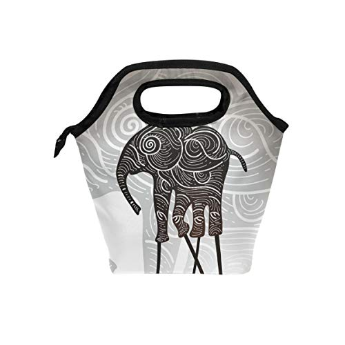 (Shiiny Elephant Shadow Puppet Insulated Lunch Bag for Women, Men and Girl Boy,Reusable Soft Lunch Tote for Work and School)