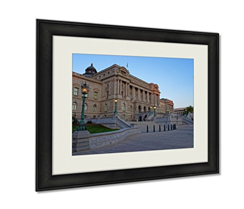Ashley Framed Prints, Library Of Congress Building In Washington Dc USA, Wall Art Decor Giclee Photo Print In Black Wood Frame, Ready to hang, 16x20 Art, - Way Federal Mall