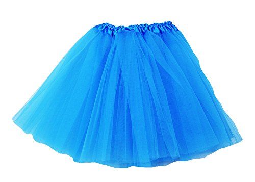 The Hair Bow Company Girl & Teen Tulle Tutu Skirt for 8-16 years Turquoise - Blue Hair Girl Costume