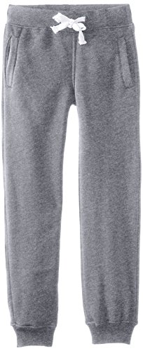 Southpole Boys' Big Active Basic Jogger Fleece Pants, Heather Grey, Large / 14-16 (Boys Lightweight Sweatpants)