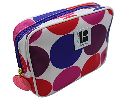 Estee Lauder Lisa Perry Pink Red Blue Purple White Cosmetic MakeUp Bag (Estee Lauder Makeup Bag)