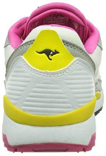 KangaROOS Runaway ROOS 001 Damen Sneakers Weiß (white/semi grey 021)