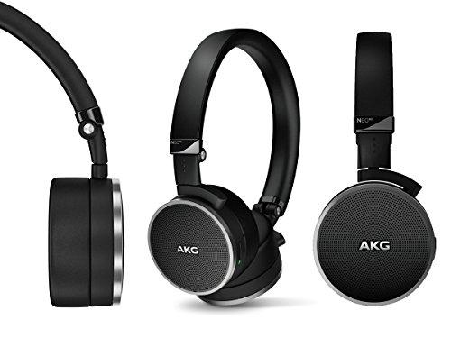 AKG Noise Cancelling On-Ear Headphone, Black (Refurbished)
